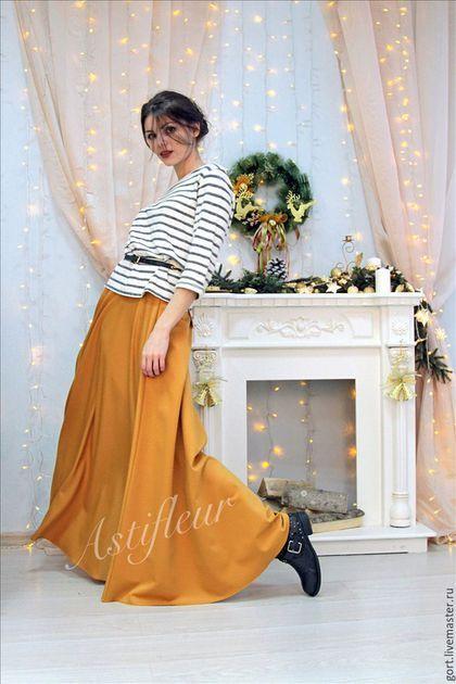 Юбка однотонная зимняя шафран редкий цвет горчичный цвет юбка в пол теплая юбка в пол цвет нового года мода зимы 2015 яркая юбка зимняя в пол макси длина макси теплая юбка купить в москве шоурум женск