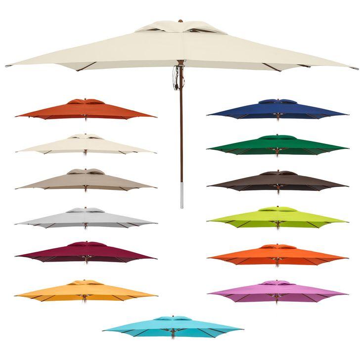 anndora Sonnenschirm Gartenschirm 3 x 4 m eckig UV-Schutz Farbauswahl