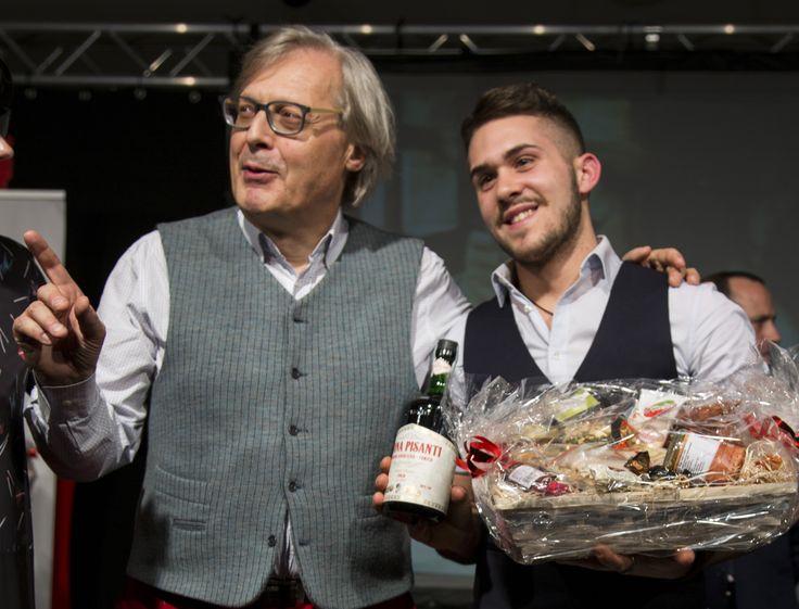 Vittorio Sgarbi con China Pisanti all'evento Aibes