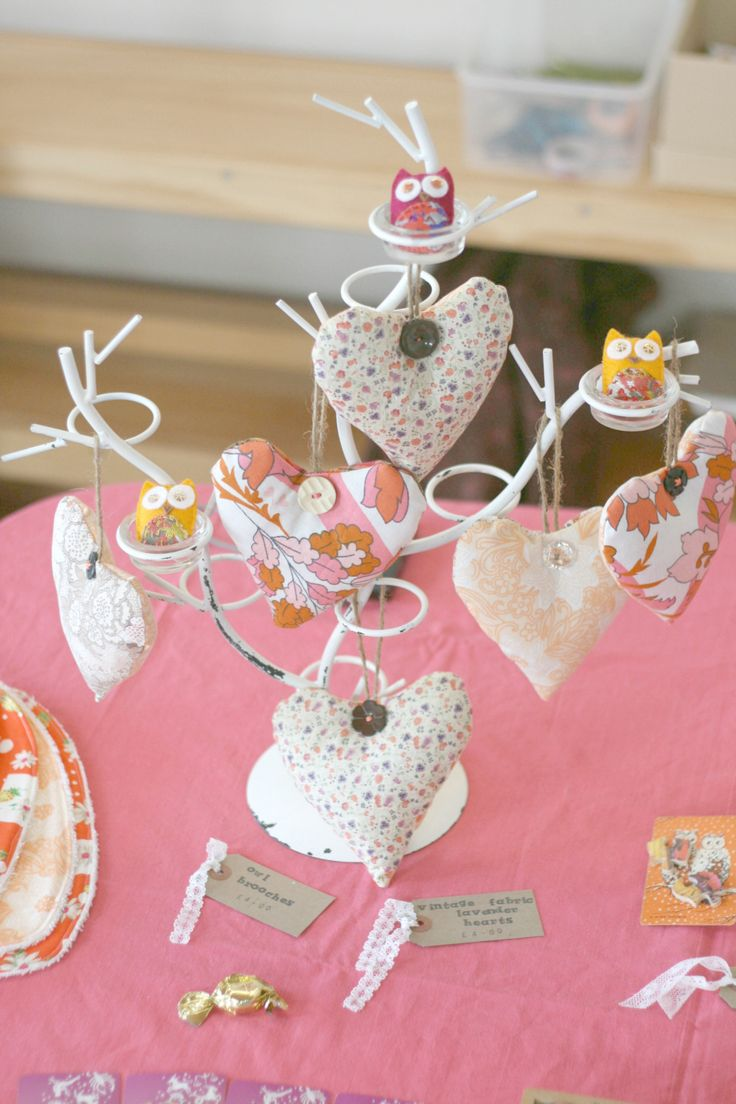 Craft stall display ideas. The-Owl-Club-Lavender-Hearts.