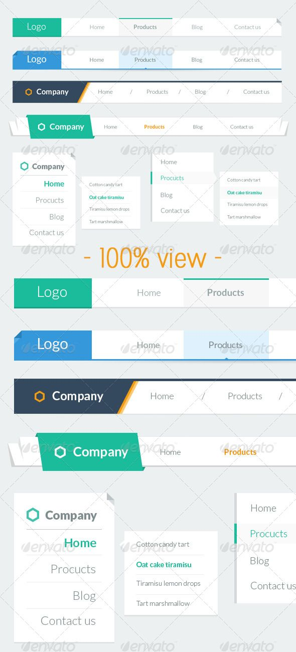 Flat - Navigation Bar  #GraphicRiver         Features   4 Horizontal style  2 Dropdown  Flat design clean and minimal  Well organize layters    Font used   Lato  if you love this item give me some love comeback and rate my hard work, I do appreciate.       Created: 31July13 GraphicsFilesIncluded: PhotoshopPSD HighResolution: No Layered: Yes MinimumAdobeCSVersion: CS2 PixelDimensions: 1000x828 Tags: bar #clean #cyan #flat #horiziontal #minimalist #navigation