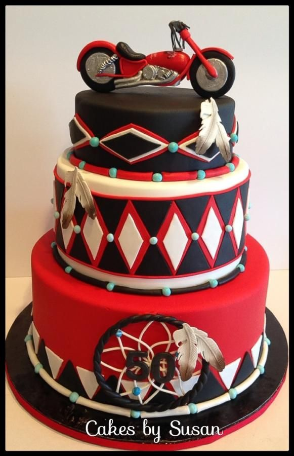 Birthday Cake Ideas Motorcycle : American Indian motorcycle cake Delightful..Fun ...