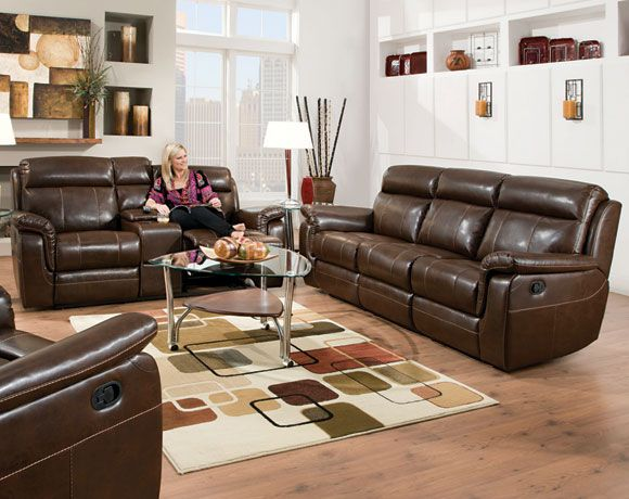 Lowey Tobacco Reclining Sofa U0026 Loveseat | Living Rooms | American Freight  Furniture