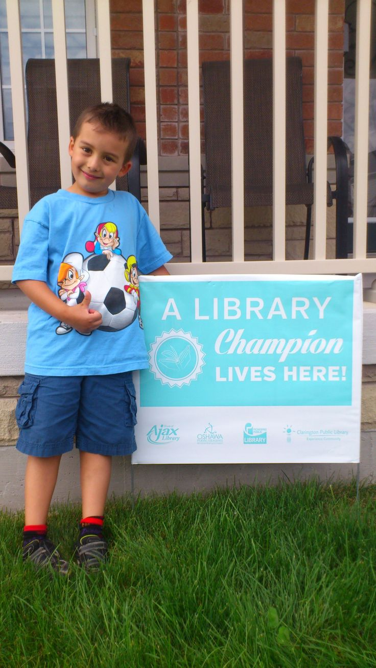 Let's all say hi and congratulations to Nico from Oshawa!  He's been a very busy reader all summer long and has been rewarded by becoming part of the Library Championship Circle! Well done Nico!  You're awesome!