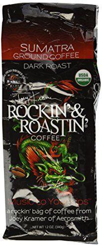 Joey Kramer Rockin and Roastin Organic Ground Sumatra Coffee 12 oz >>> To view further for this item, visit the image link.