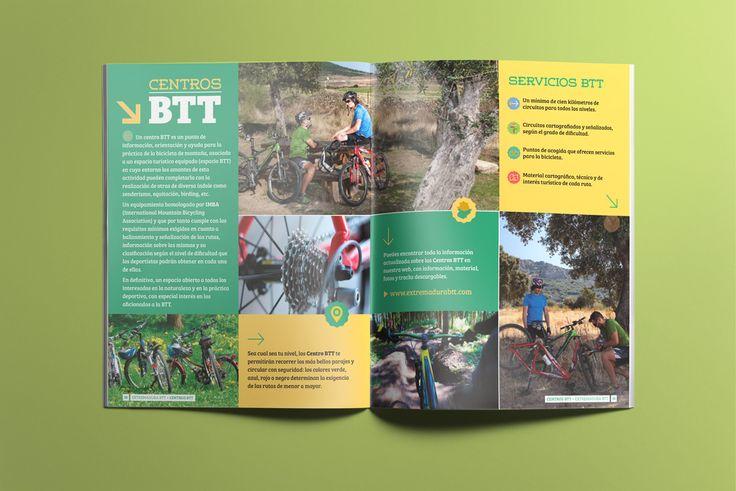 Capítulo: Centros BTT - Folleto turístico | Extremadura BTT | Laruinagrafica