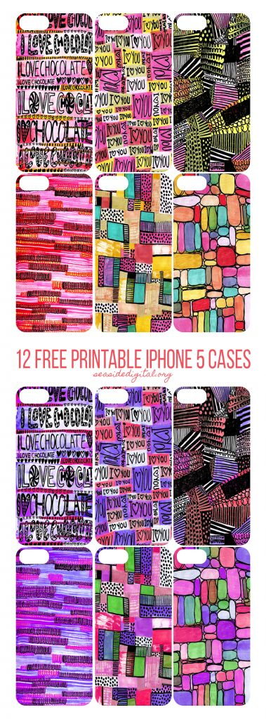 12 Free Printable iPhone Cases