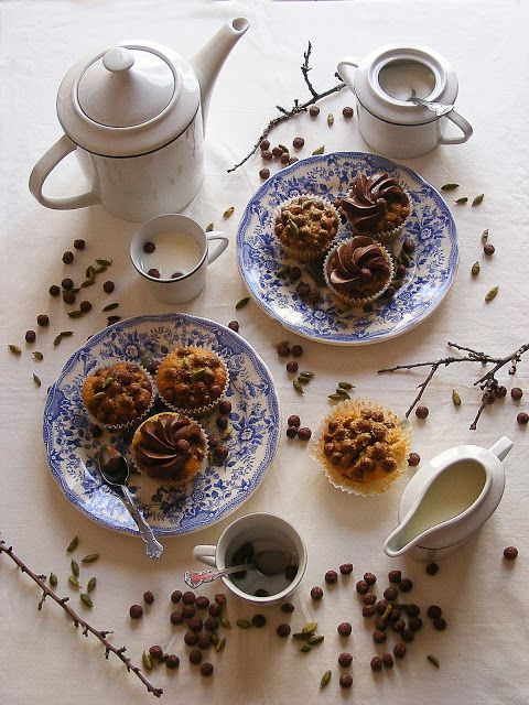 La asaltante de dulces: Receta de cupcakes de cardamomo y cereales/ Cardamom & cereals cupcakes recipe. OMG!!!