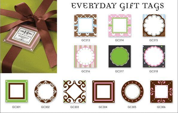 Gift Tags for stampers - click to enlarge
