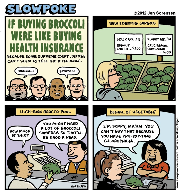 Broccoli and Health Care Reform #hcr #obamacare #insurance