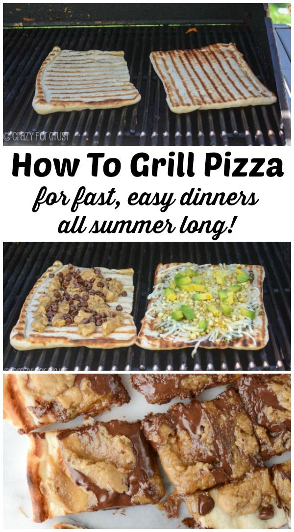 How to Grill Pizza Photo Tutorial - BBQ pizza is easy, fast, and a great dinner option for summer.