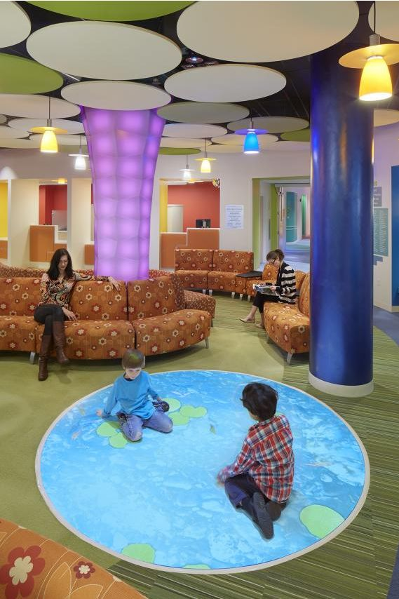 the waiting room  also known as the playtrium  at baystate orthopedic surgery and children u0026 39 s