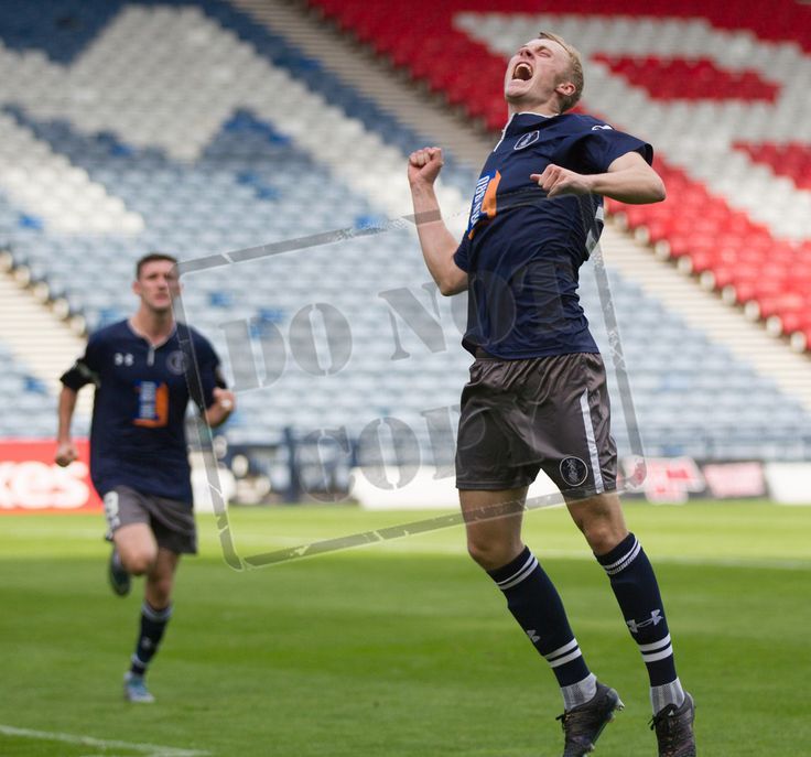 Queen's Park's Ross Millen celebrates his goal during the Ladbrokes League One game between Queen's Park and Alloa Athletic.