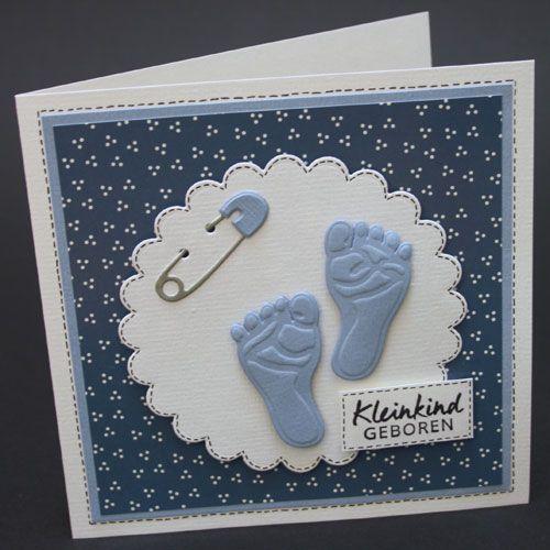 Marjolein maakte 2 babykaarten met nieuwe stansen van Leane Creatief.