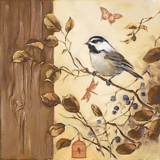 Kuş Temalı Dekupaj Resimleri resimleri
