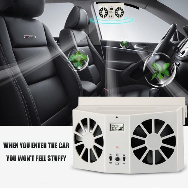 solar car exhaust heat exhaust fan