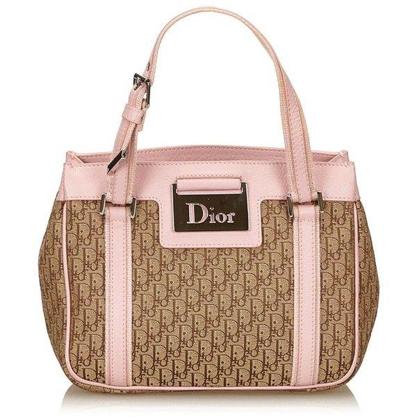 Pre-owned Jacquard Handbag (6,120 MXN) ❤ liked on Polyvore featuring bags, handbags, beige, handle bag, beige bags, christian dior purses, jacquard handbags and christian dior bags