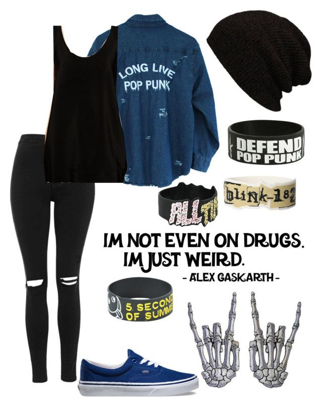 """Long live Pop Punk"" by bands-music ❤ liked on Polyvore featuring Topshop, Vans and ASOS"