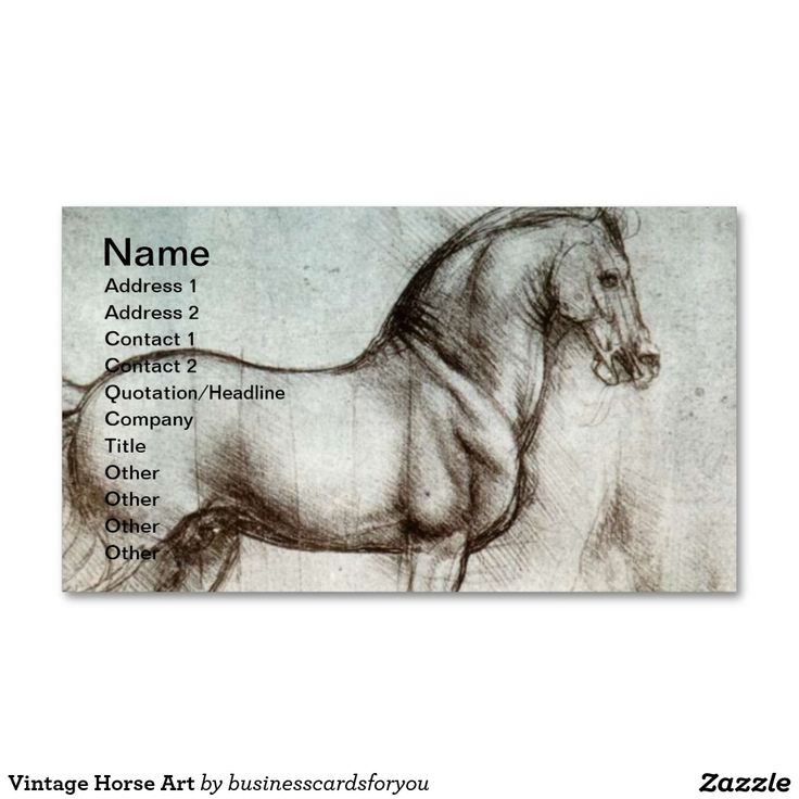 Zazzle Equestrian Business Cards Gallery - Card Design And Card Template