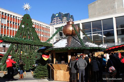 Vancouver Christmas Market 2014. Photos by @vanfoodies. Take a peek! Great Christmas Tree Decoration - even lovely during daylight. #mybrilliantstar #herrnhutstar #moravianstar #christmas #decoration #vancouverchristmasmarket