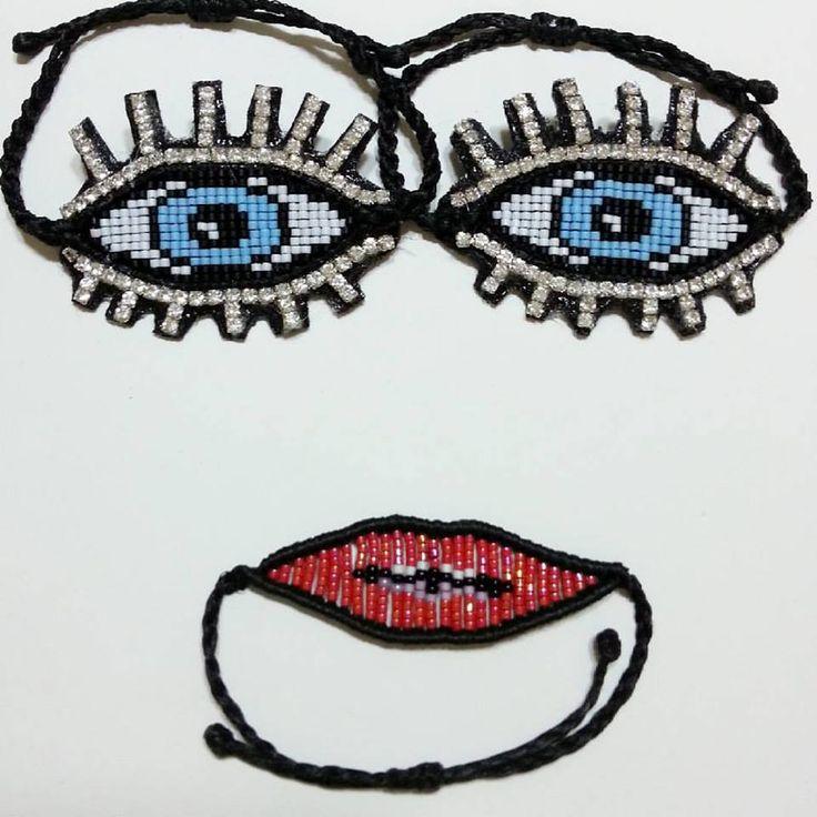 evileye and lipstck miyuki bracelet