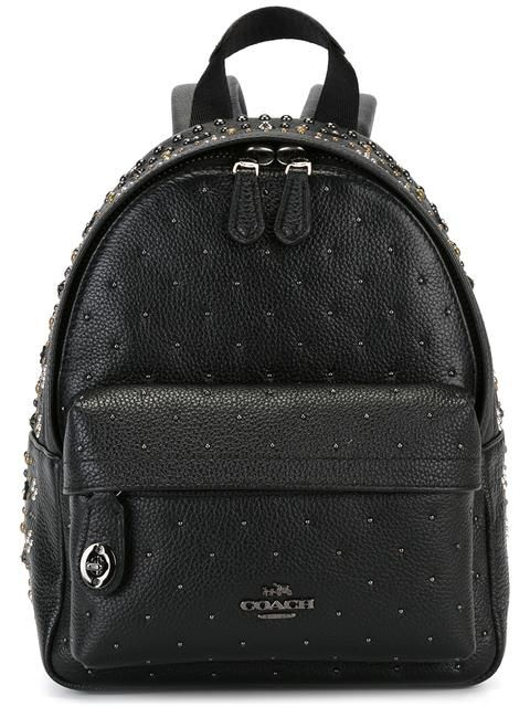 COACH mini studded backpack. #coach #bags #leather #backpacks #