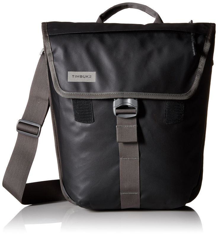 Timbuk2 Tandem Pannier, Black, One Size. Built-in magnets clip together for a slim profile carried off-bike. Removable shoulder strap allows carry as a messenger or briefcase. Waterproof tarpaulin exterior keeps rain and grime out.