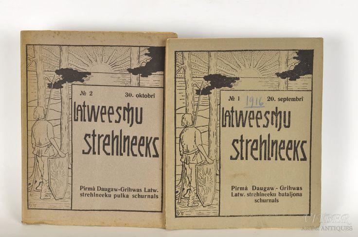 """""""Latviešu strēlnieks"""", divi numuri, 1916. g., Pirmā Daugavgrīvas Latviešu strēlnieku pulka žurnāls, Rīga"""