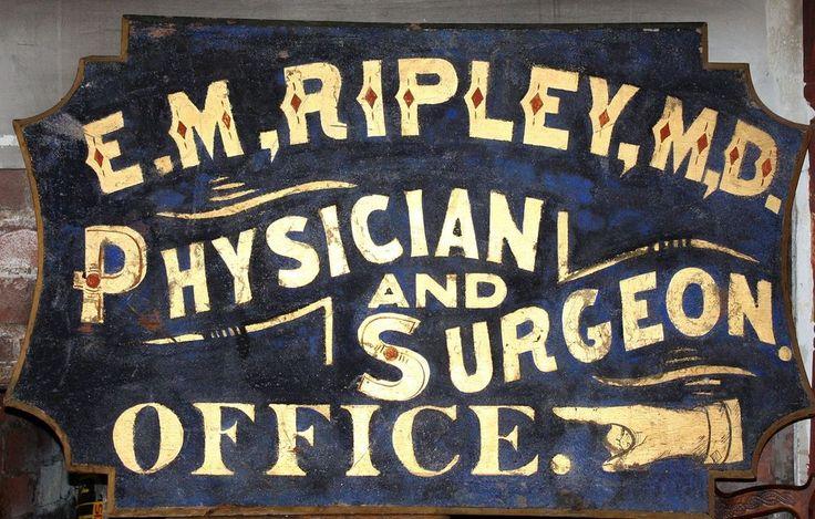 Superb Antique Doctor & Surgeon Trade sign! Unique Shape ...