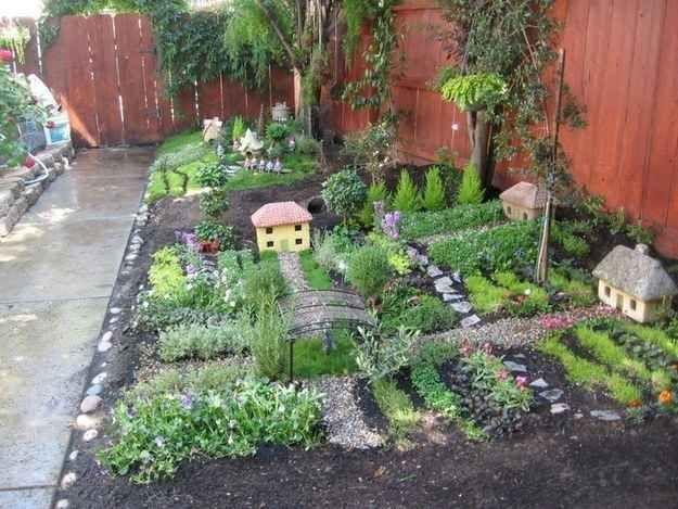 """Make a """"wee village"""" garden."""