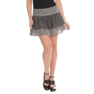 Silver Grey Ruffle Lace Stud Mini Skirt (Apparel)  http://documentaries.me.uk/other.php?p=B0041VOJQU  B0041VOJQU