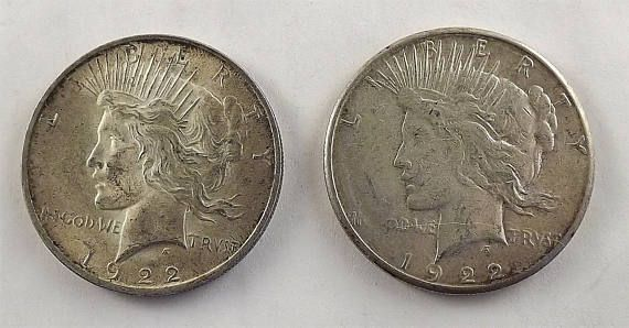 New in my Coin and Vintage Eyeglasses shop, this pair of 1922 Silver Dollar Coins featuring the beautiful lady of PEACE. Vintage 1922s and 1922 Silver Peace one silver dollars #coin #collecting #silver #peace