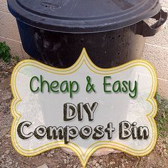 Why pay for an expensive composter when you can make a Cheap and Easy DIY Compost Bin? Once you make one, you'll be making another!