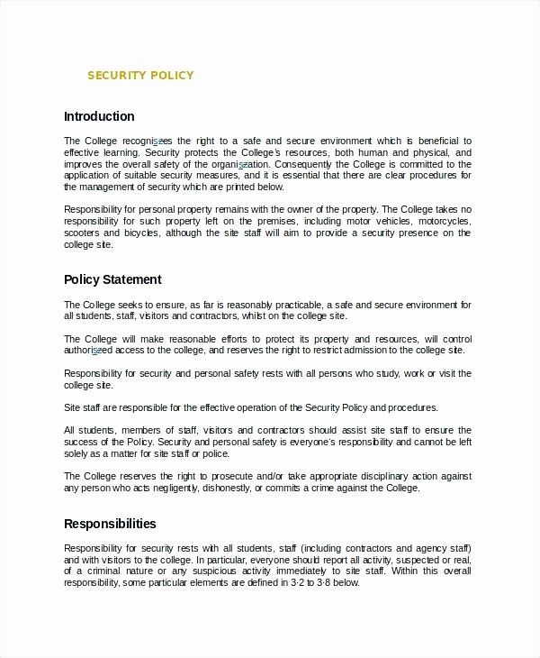 Information Security Policy Template In 2020 Policy Template