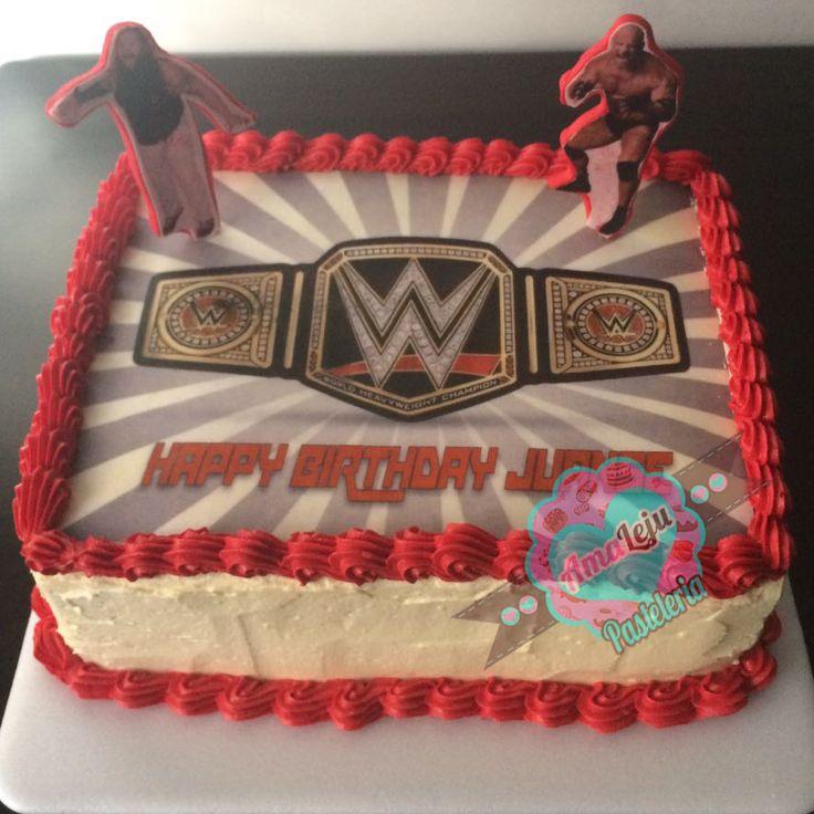 Torta WWE Realiza tu pedido por; WhatsApp: 3058556189, fijo 8374484  correo info@amaleju.com.co Síguenos en Twitter: @amaleju / Instagram: AmaLeju