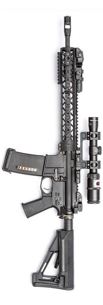Rainier Arms upper with Trijicon scope. By Stickman.