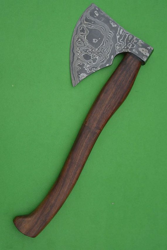 Handmade Damascus Steel Tomahawk Axes With by SharpDamascusKnives