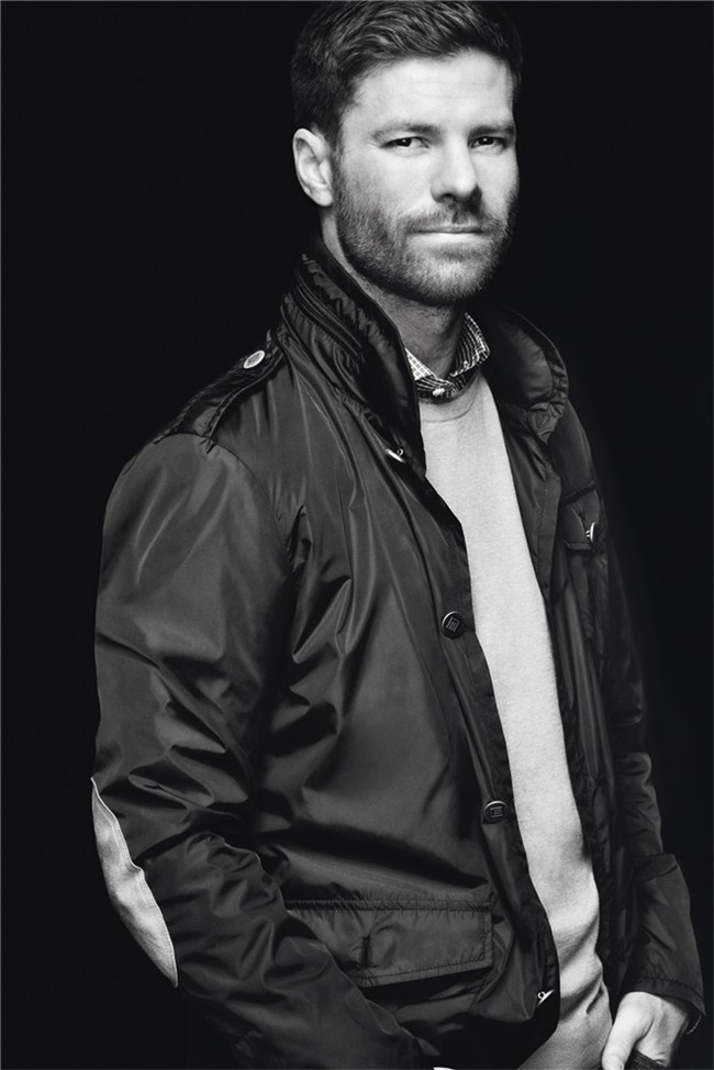 """Real Madrid's Xabi Alonso for the Emidio Tucci's """"Black Collection"""" line"""