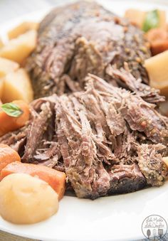 Three Envelope Roast - This easy and delicious pot roast is only 6 ingredients…