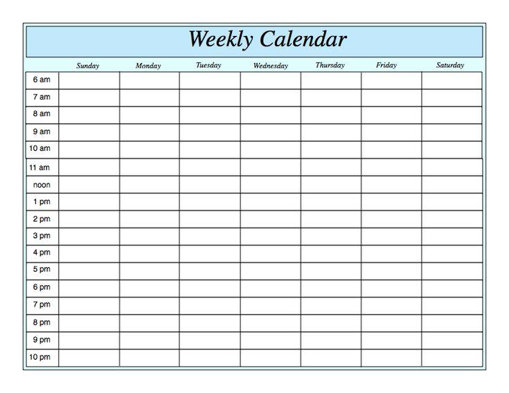 Fine One Week Calendar Template Word Pattern - Best Resume Examples - one week calendar template word