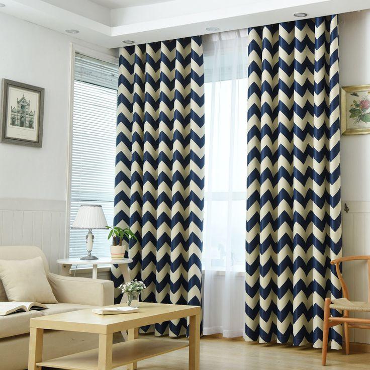 European geometric style Bedroom Curtain Kids Blinds Window Shade Cloth Modern geometric printing Pattern Screening Fabric B6 #Affiliate