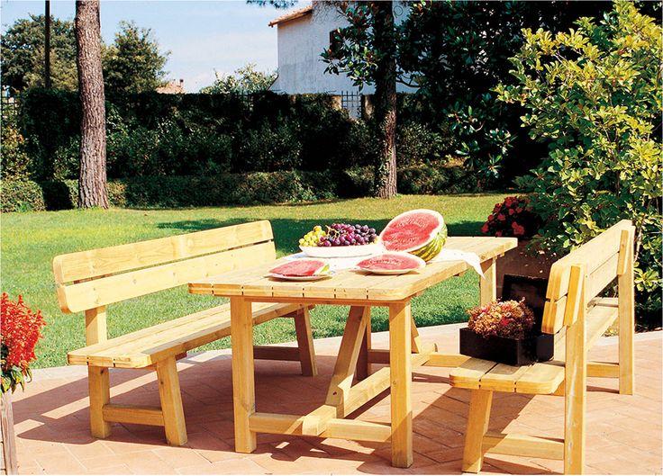 Tavoli da esterno F.lli Aquilani per agriturismi e aree picnic