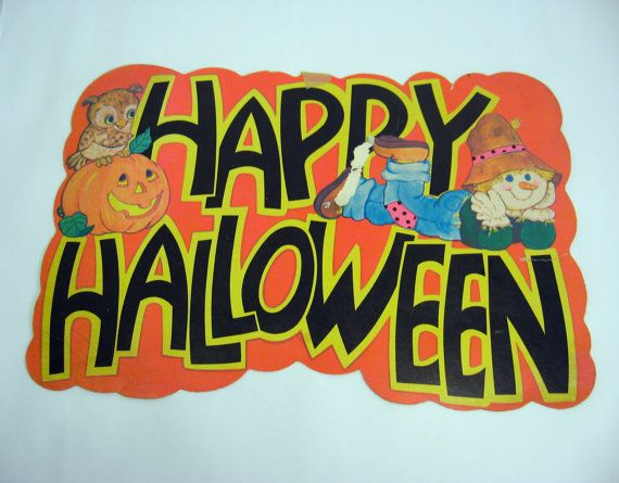 1980s peck incorporated happy halloween decoration 100a for 1980s decoration