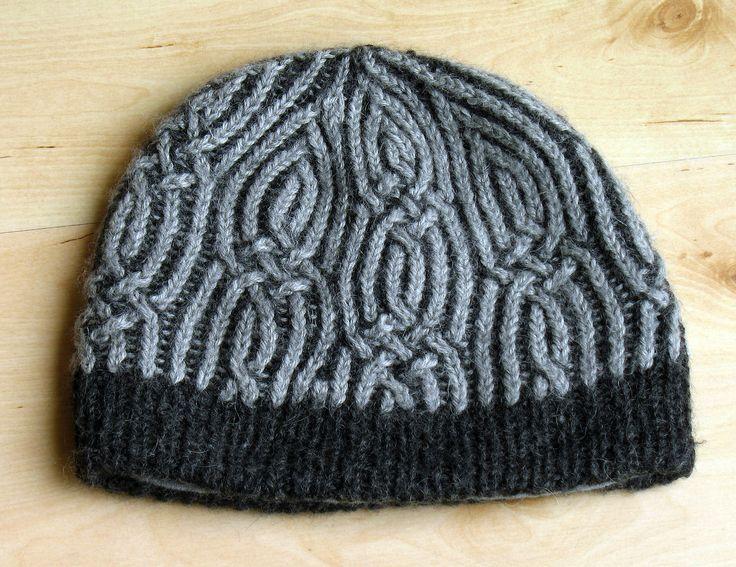 https://flic.kr/p/egMuCy | brioche cable hat | hand knit by EastLondonKnit