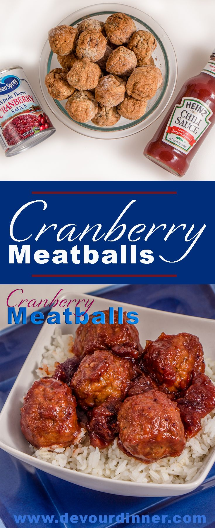 Cranberry Meatballs - Devour Dinner