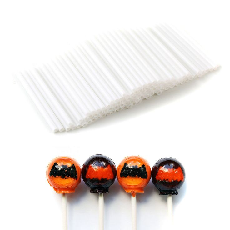 100pcs Plastic Lollipop Sucker Sticks for Chocolate Cake Candy Mould Making #IDS 1.63