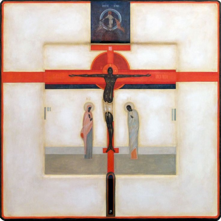 Crucifixion - Contemporary icon by Greta Leśko of Poland