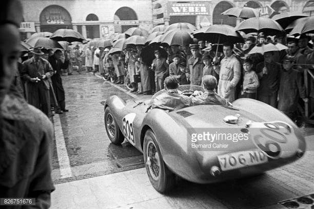 Peter Collins Pat Griffith Aston Martin DB3S Mille Miglia Italy 02 May 1954