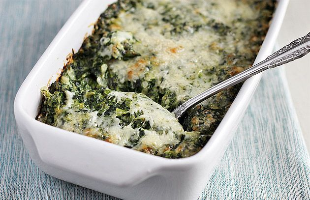 Creamed Spinach Gratin from Barefoot Contessa