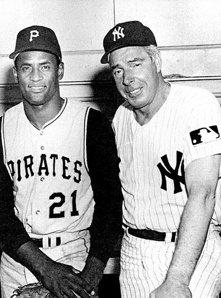 Puerto Rico legend Roberto Clemente and Yankees Clipper Joe Dimaggio